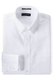 Men's Tall Traditional Fit Solid Supima Oxford Hyde Park Dress Shirt