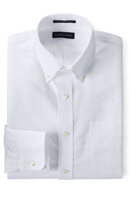 Men's Tailored Fit Solid Supima Oxford Hyde Park Dress Shirt
