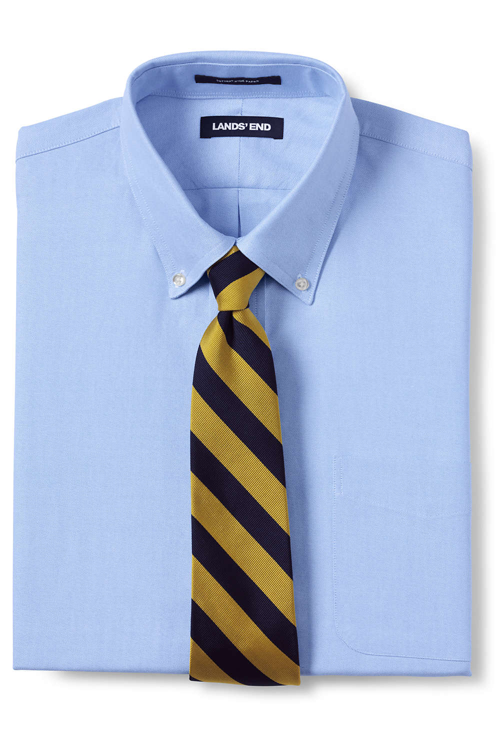 Mens Supima Hyde Park Oxford Dress Shirt From Lands End