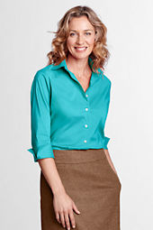 Women's 3/4-sleeve Stretch Broadcloth Blouse