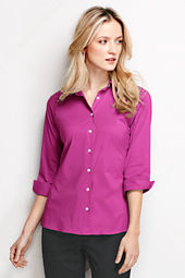 Women's 3/4-sleeve Stretch Broadcloth