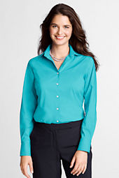 Women's Long Sleeve Stretch Broadcloth Blouse
