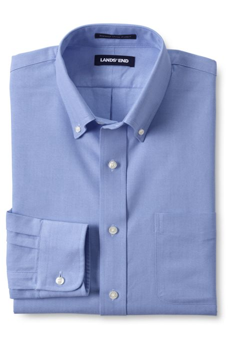 Men's Traditional Fit Solid Supima Oxford Hyde Park Dress Shirt