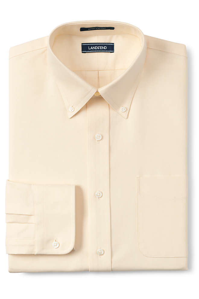 Men's Tall Traditional Fit Solid Supima Oxford Hyde Park Dress Shirt, Front