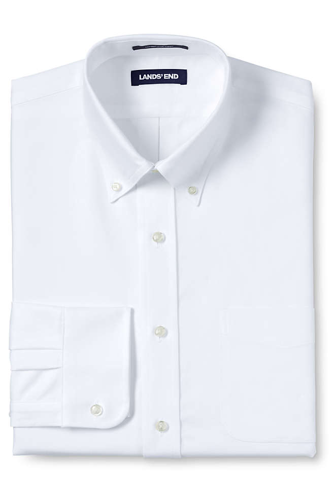 Men's Big & Tall Traditional Fit Solid Supima Oxford Hyde Park Dress Shirt, Front
