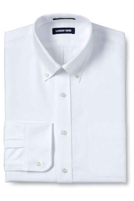 Men's Big & Tall Traditional Fit Solid Supima Oxford Hyde Park Dress Shirt