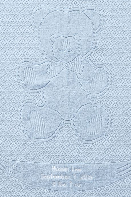 Scottish Lace Bear Baby Blanket