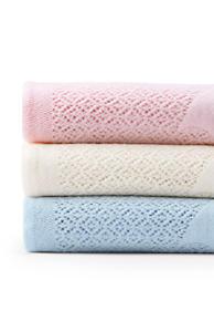 scottish lace bear baby blanket
