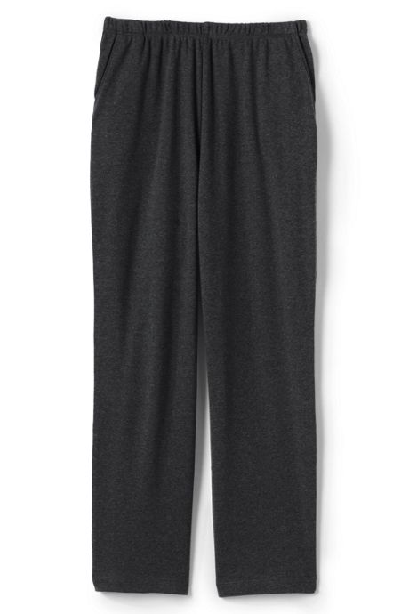 Women's Plus Size Petite Sport Knit Elastic Waist Pull On Crop Pants