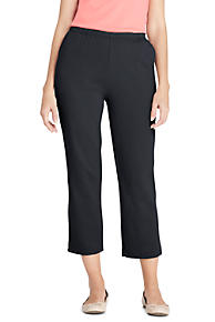 Womens LE Sport Studio Crops - 10 12 - BLACK Lands End 7BuZA4