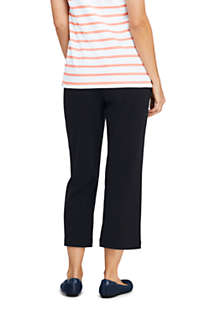 Women's Tall Sport Knit Elastic Waist Pull On Crop Pants, Back