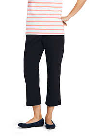Women's Sport Knit Elastic Waist Pull On Crop Pants