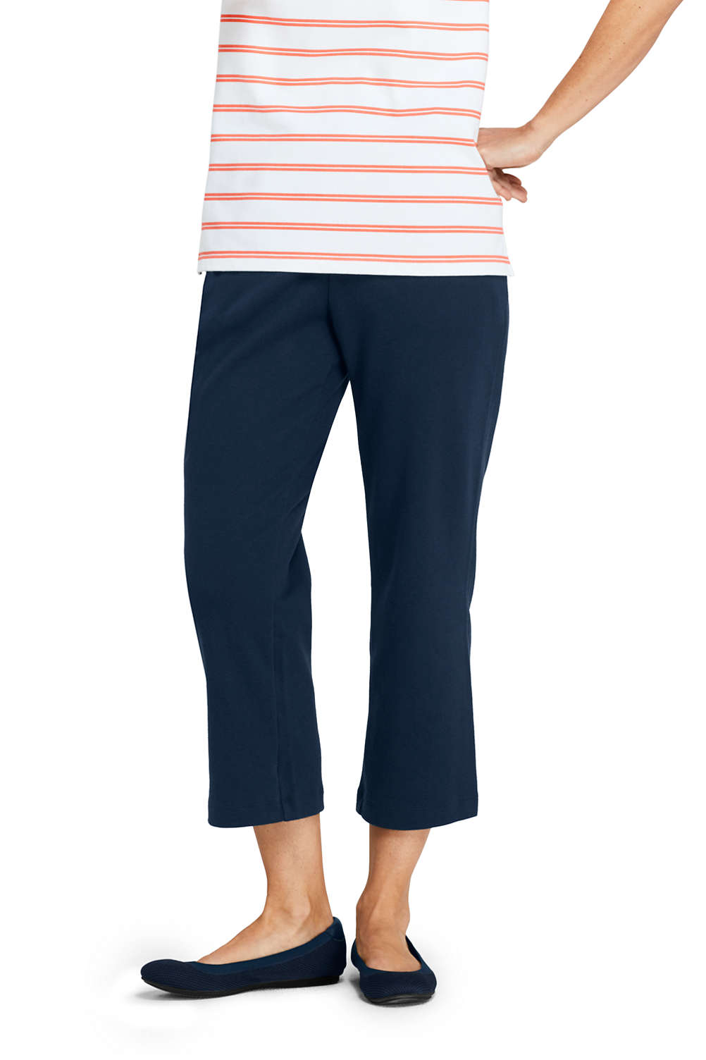 a9be6f3ed1712 Women's Sport Knit Elastic Waist Pull On Crop Pants from Lands' End