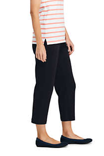 Women's Tall Sport Knit Elastic Waist Pull On Crop Pants, alternative image