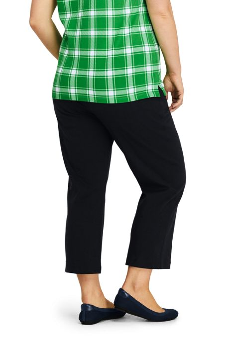 Women's Plus Size Petite Sport Knit Crop Pants