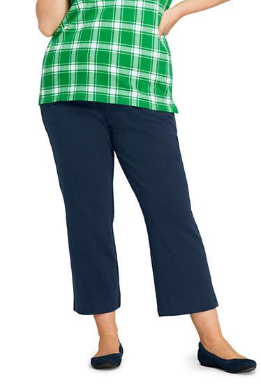 b8f5b1211667 Women's Plus Size Sport Knit Crop Pants from Lands' End