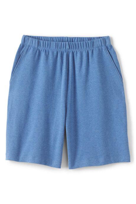 Women's Plus Size Sport Knit Elastic Waist Pull On Shorts