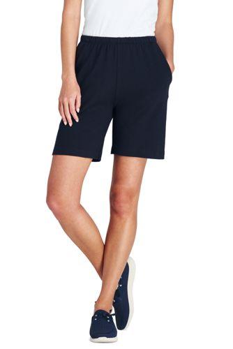 Women's Plus Size Sport Knit Shorts by Lands' End