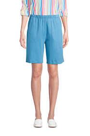 Women's Sport Knit High Rise Elastic Waist Pull On Shorts
