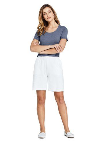Women's Sport Knit Elastic Waist Pull On Shorts