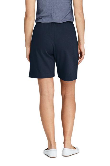 Women's Tall Sport Knit Elastic Waist Pull On Shorts