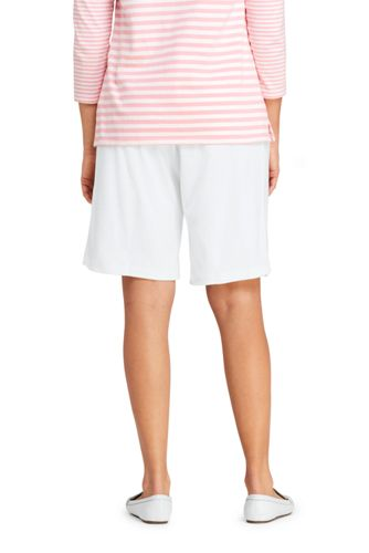 Women's Plus Size Sport Knit High Rise Elastic Waist Pull On Shorts