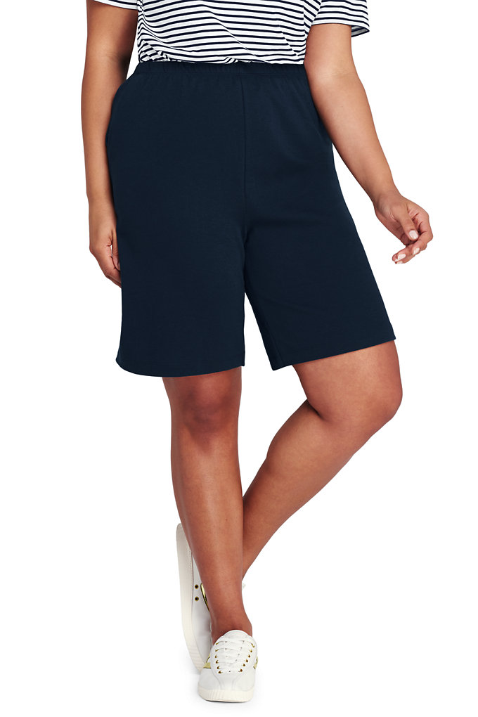 Women's Plus Size Sport Knit Shorts
