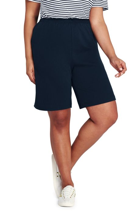 Women's Plus Size Sport Knit Shorts