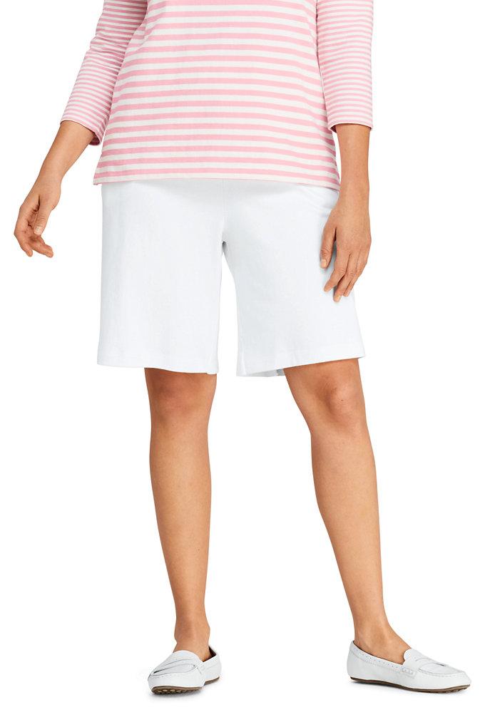 Women's Plus Size Sport Knit Shorts - Lands' End