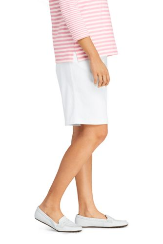 Women's Plus Size Petite Sport Knit Elastic Waist Pull On Shorts