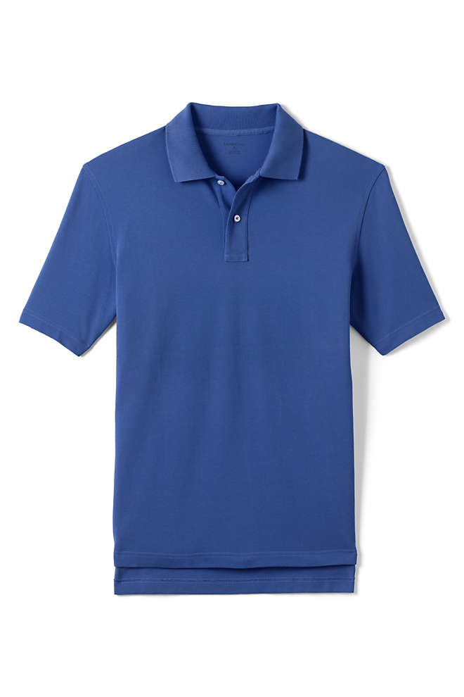 Lands' End Men's Hemmed Mesh Polo Shirt