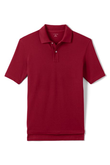 Men's Short Sleeve Hemmed Mesh Polo Shirt