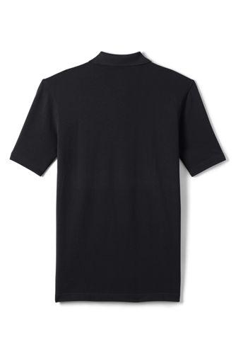 Men's Big Hemmed Short Sleeve Mesh Polo
