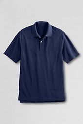 Men's Classic Short Sleeve Hemmed Mesh Polo Shirt