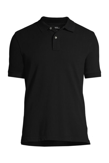 Men's Custom Logo Banded Short Sleeve Cotton Mesh Polo Shirt