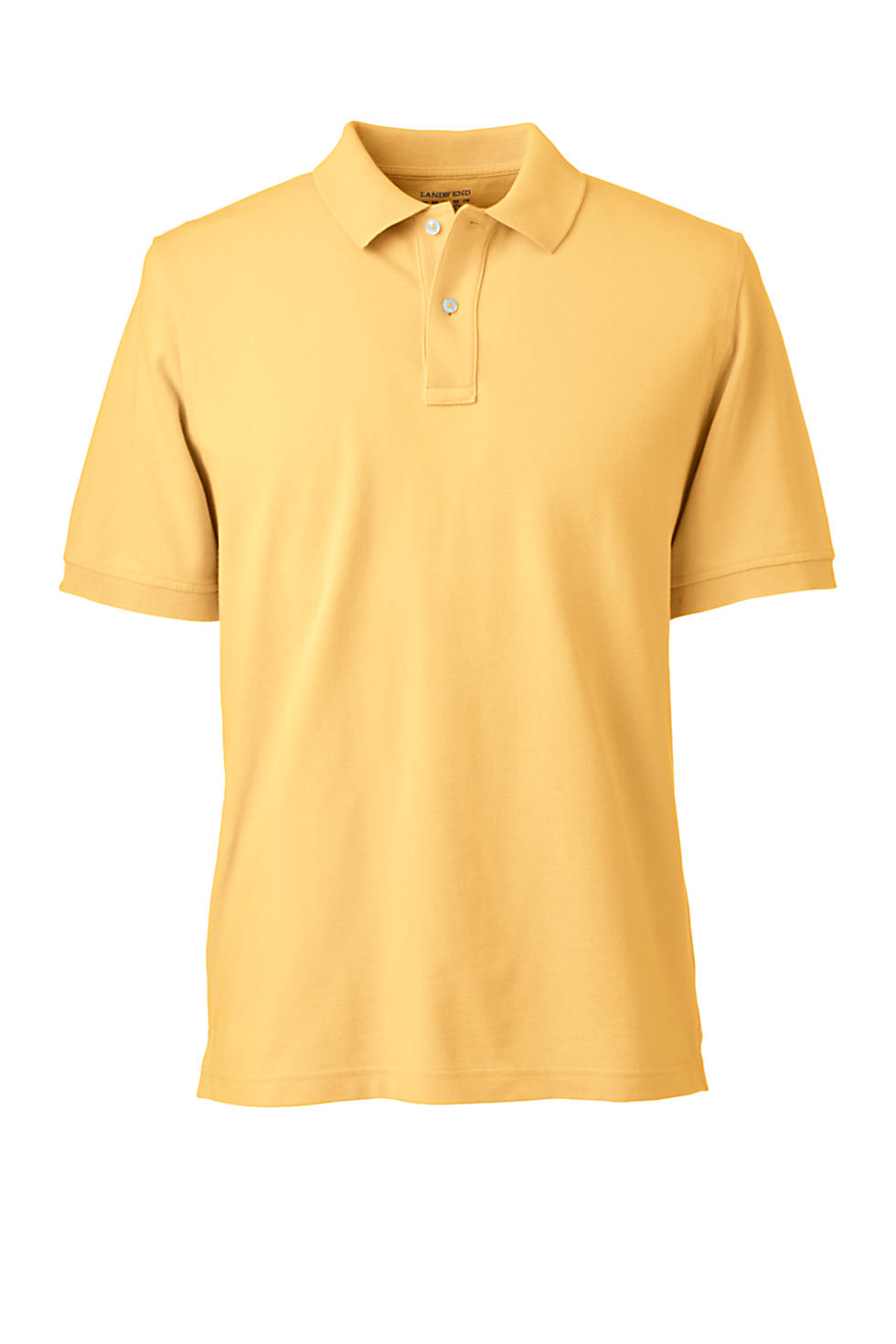 Lands' End Men's Banded Short Sleeve Mesh Polo