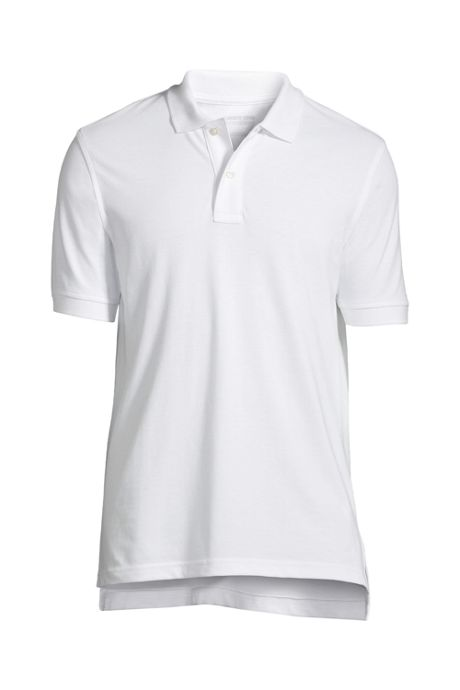 School Uniform Men's Banded Short Sleeve Mesh Polo