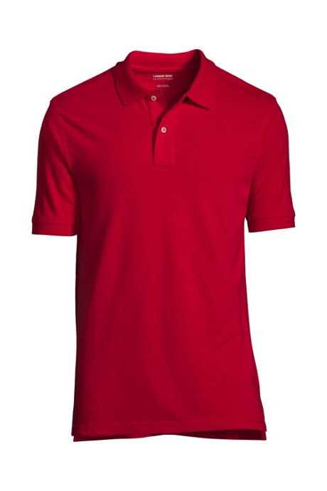 Men's Short Sleeve Banded Mesh Polo Shirt