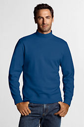 Men's Solid Interlock Mock Turtleneck