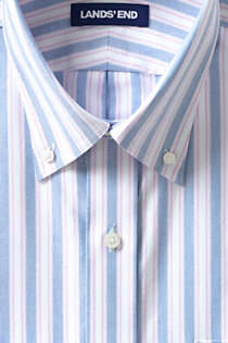 Men's Traditional Fit Pattern Supima Oxford Hyde Park Dress Shirt, alternative image