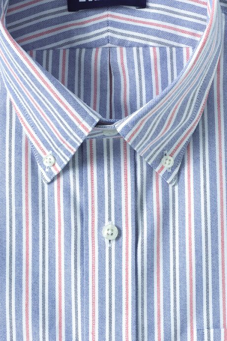 Men's Traditional Fit Pattern Supima Oxford Hyde Park Dress Shirt