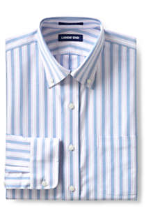 Men's Traditional Fit Pattern Supima Oxford Hyde Park Dress Shirt, Front