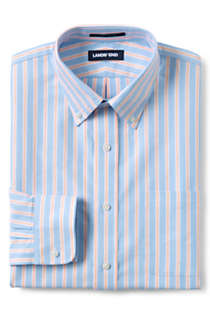 Men's Tailored Fit Pattern Supima Oxford Hyde Park Dress Shirt, Front