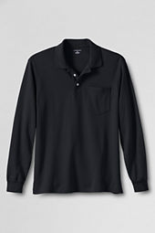 Men's Long Sleeve Pima Polo Shirt with Pocket