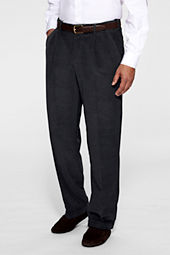 Men's Pleat Front Comfort Waist Finewale Corduroy Pants