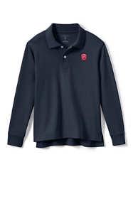 Logo Kids Long Sleeve Interlock Polo