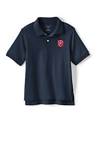 School Uniform Logo Kids Short Sleeve Interlock Polo 6cbcd91ce