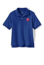 School Uniform Exclusive Little Kids Short Sleeve Interlock Polo
