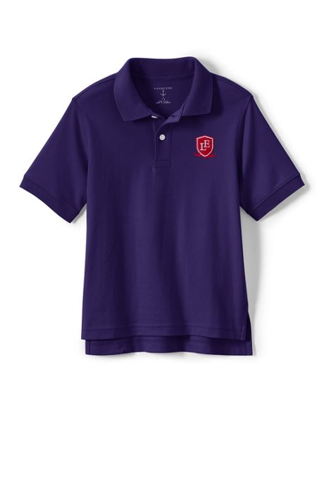 Logo Kids Short Sleeve Interlock Polo