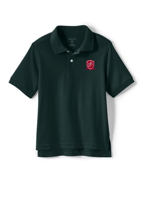 School Uniform Logo Kids Short Sleeve Interlock Polo